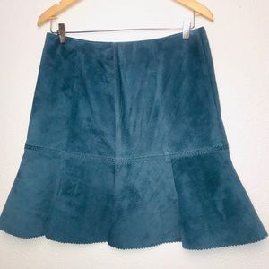 W by Worth Suede Leather Skirt Size 8